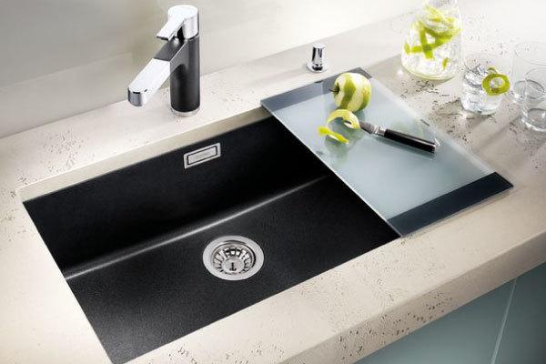 blanco subline 700 u synthetic sink. Black Bedroom Furniture Sets. Home Design Ideas