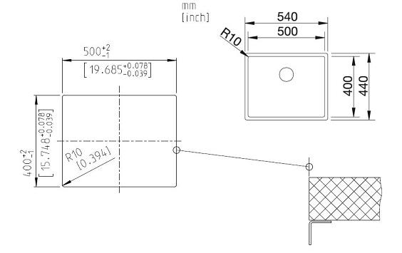 Unterschiedlich Blanco CLARON 500-U - 1517217 - Stainless Steel Sink GF22