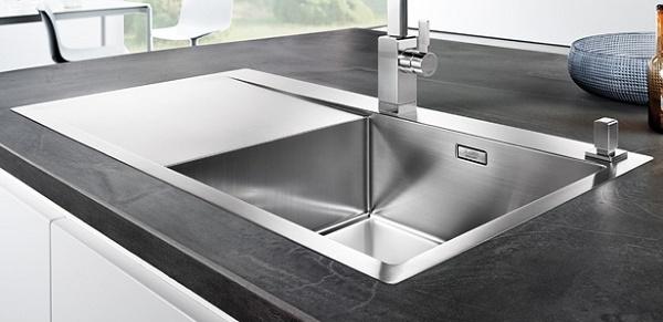 blanco flow xl 6 s if r est 4 mm stainless steel sink. Black Bedroom Furniture Sets. Home Design Ideas