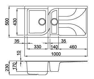 elleci ego 475 metaltek different colors synthetic sink. Black Bedroom Furniture Sets. Home Design Ideas