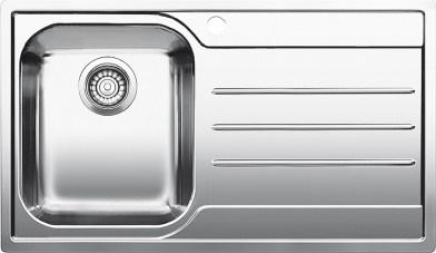 Blanco Median Sink : Blanco MEDIAN 45 S-IF - Bowls left - 1618486 - Stainless Steel Sink