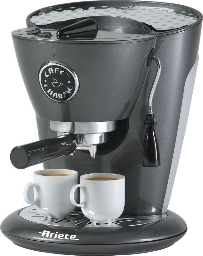 Ariete Espresso Maker ~ Ariete cafè charme antracite coffee maker