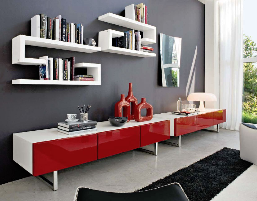 Connubia Calligaris Seattle Cb6004 4 Cabinet - Calligaris-seattle-storage-cupboard-with-four-doors