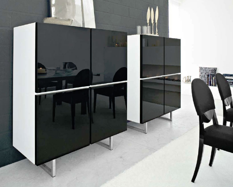 Connubia Calligaris Seattle Cb6004 5 Cabinet - Calligaris-seattle-storage-cupboard-with-four-doors