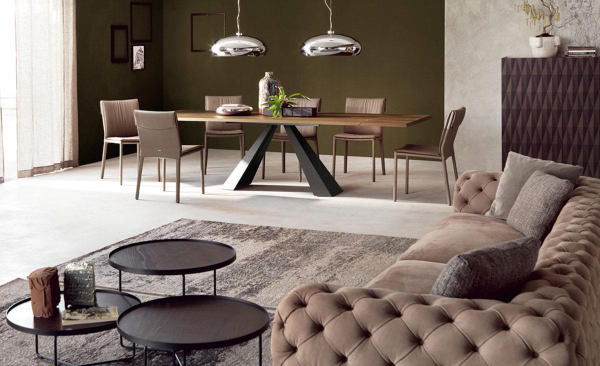 cattelan italia eliot wood drive table. Black Bedroom Furniture Sets. Home Design Ideas