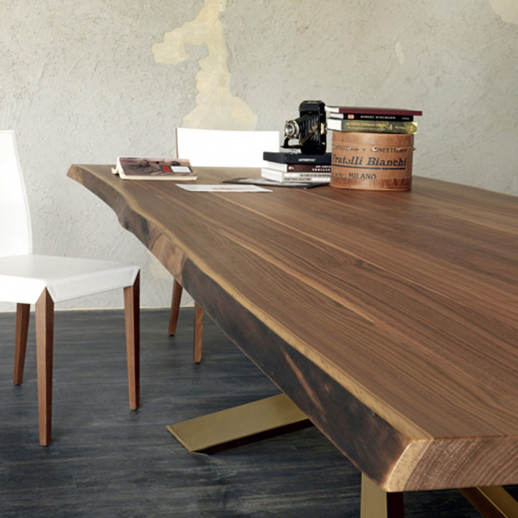Cattelan Italia Spyder Wood Table