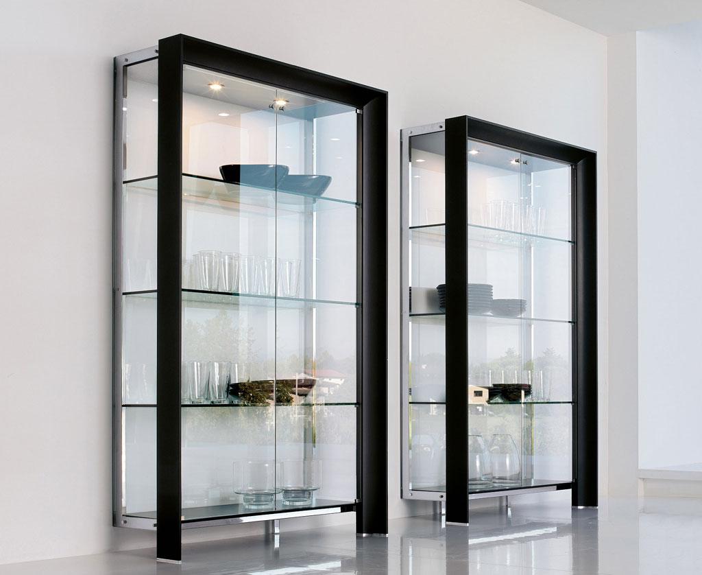 Шкаф витрина стеклянная, плюсы и минусы конструкций, оформле.