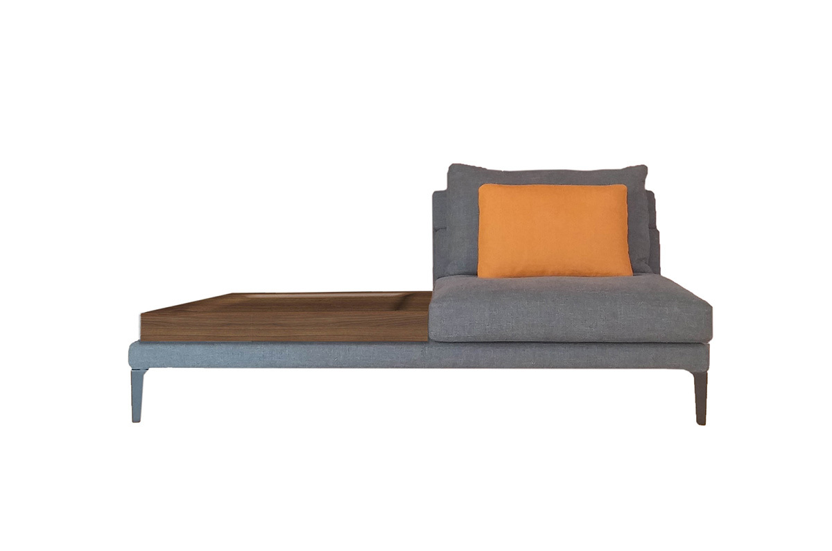 Driade megara central element with a small table left sofa for Sofa central table