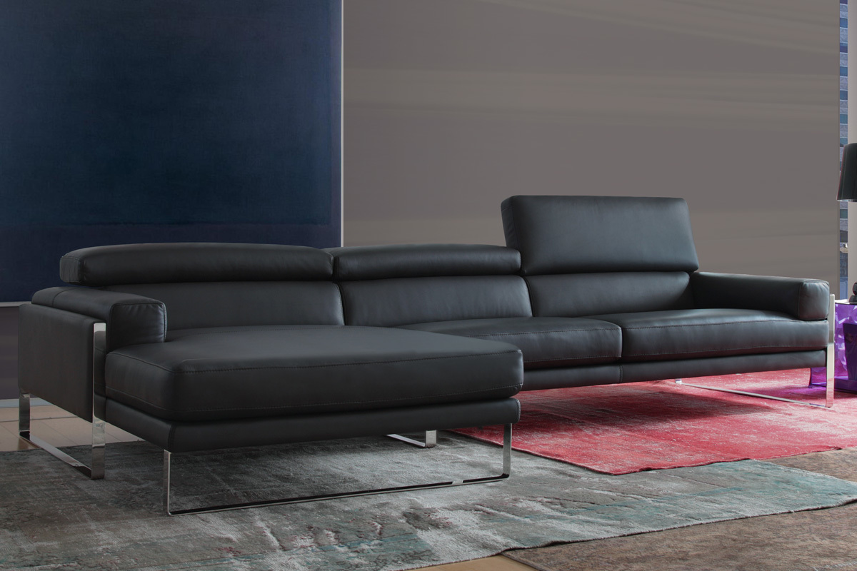 calia sofa sofa set in leather upholstery with sch capito. Black Bedroom Furniture Sets. Home Design Ideas