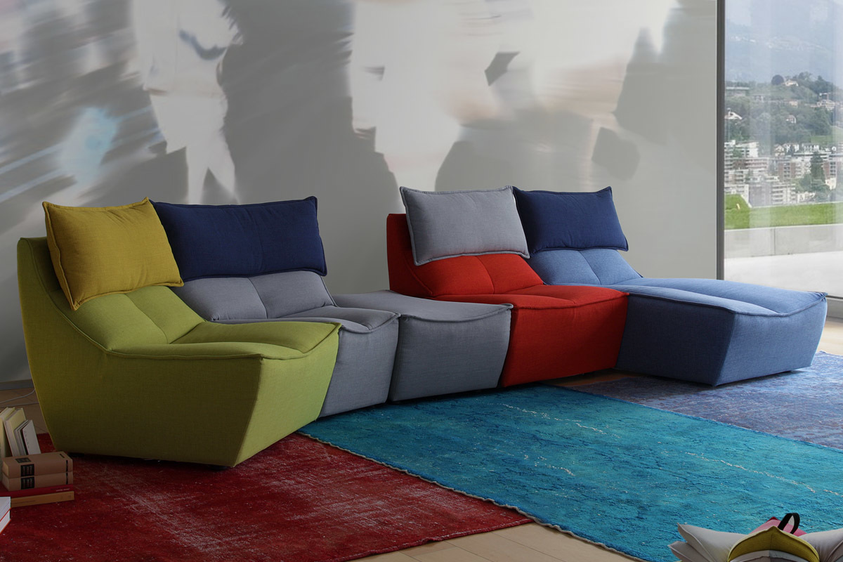 Calia Italia Hip Hop Multicolor Sofa