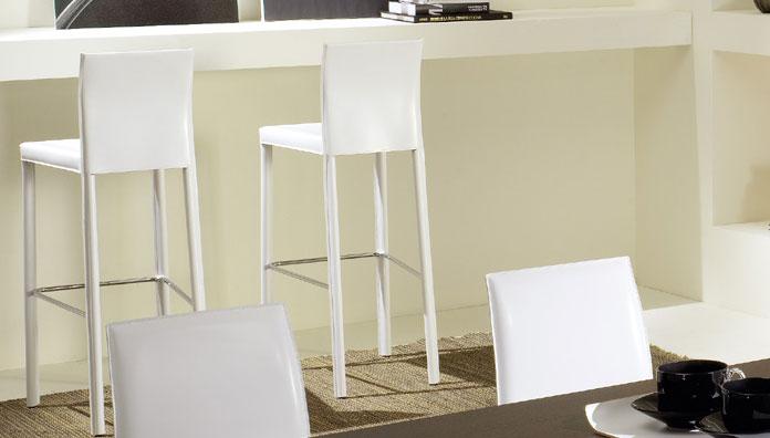 Eurosedia sgabello giada leather 118 stool
