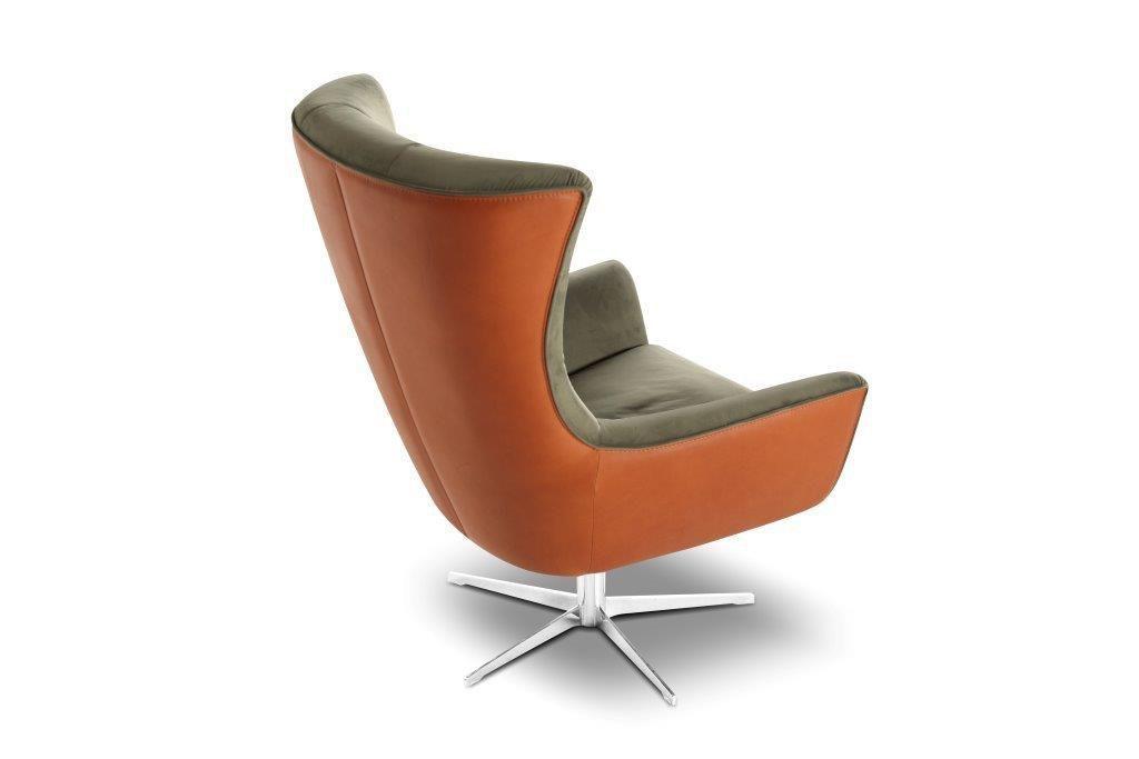 calia italia jacob swivel armchair. Black Bedroom Furniture Sets. Home Design Ideas