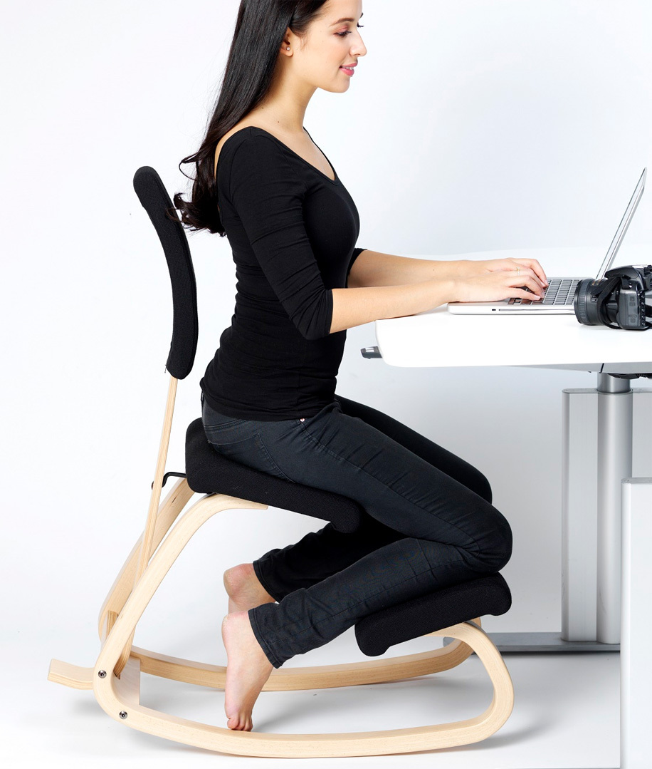 Varier variable backrest with cushion step ergonomic chair - Chaise ergonomique repose genoux ...