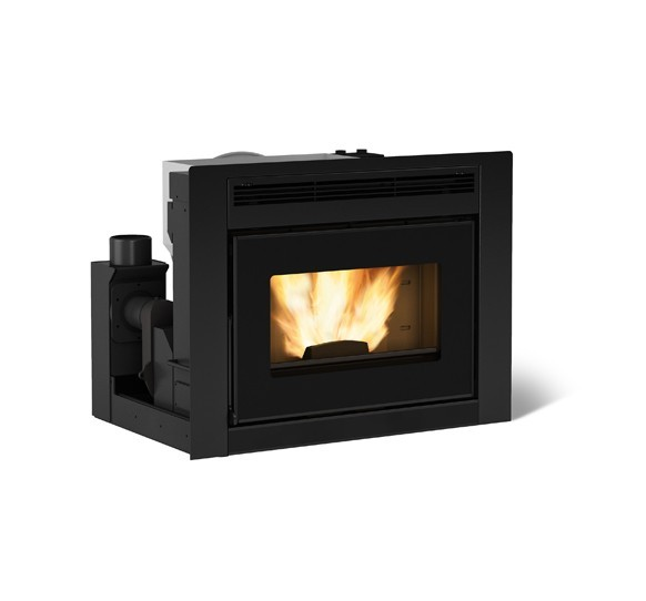 Extraflame comfort idro l80 hydro pellet fireplace for Termocamino a pellet idro