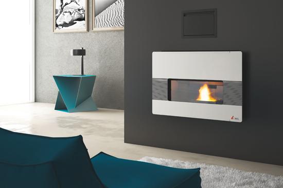 Cadel Eolo White - Pellet Fireplace