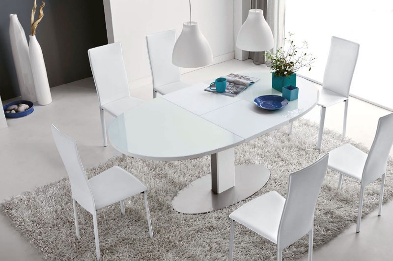 Connubia calligaris thesis cb 4756 e table for Tavoli bianchi moderni