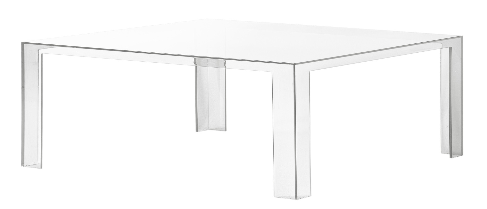 Kartell invisible table 5075 coffee table for Table kartell