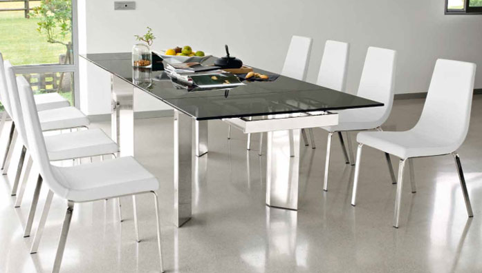 Tavolo Allungabile Vetro Calligaris.Connubia Calligaris Tower Cb 4057 R Table
