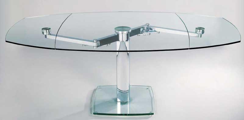 Tavolo Cristallo In Vetro.Asso Elina Table