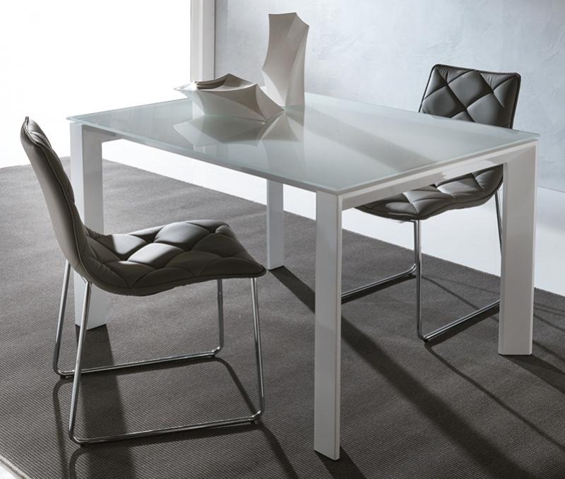 La seggiola blanco table for Table extensible titanium