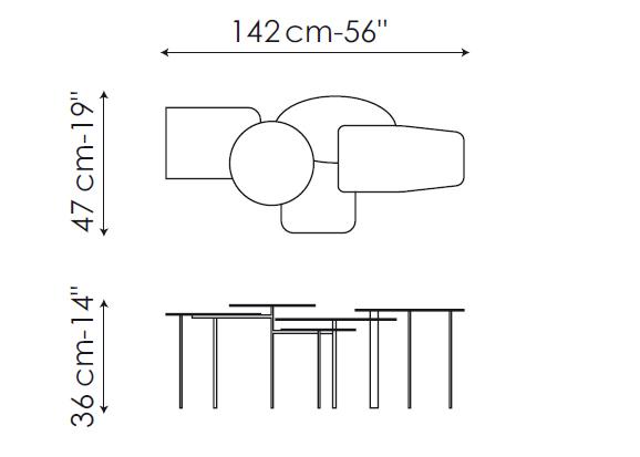 bonaldo collage c1 coffee table. Black Bedroom Furniture Sets. Home Design Ideas