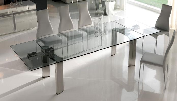 Tavolo Cristallo In Vetro.Cattelan Italia Table Extensible Daytona 160x90 Table