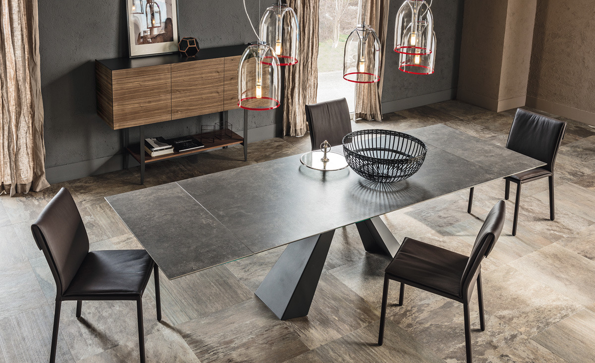 cattelan italia eliot keramik drive table. Black Bedroom Furniture Sets. Home Design Ideas