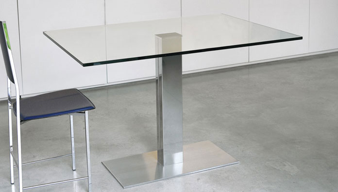 Cattelan italia table fixed elvis 120x80 table for Mesa 80x80 extensible