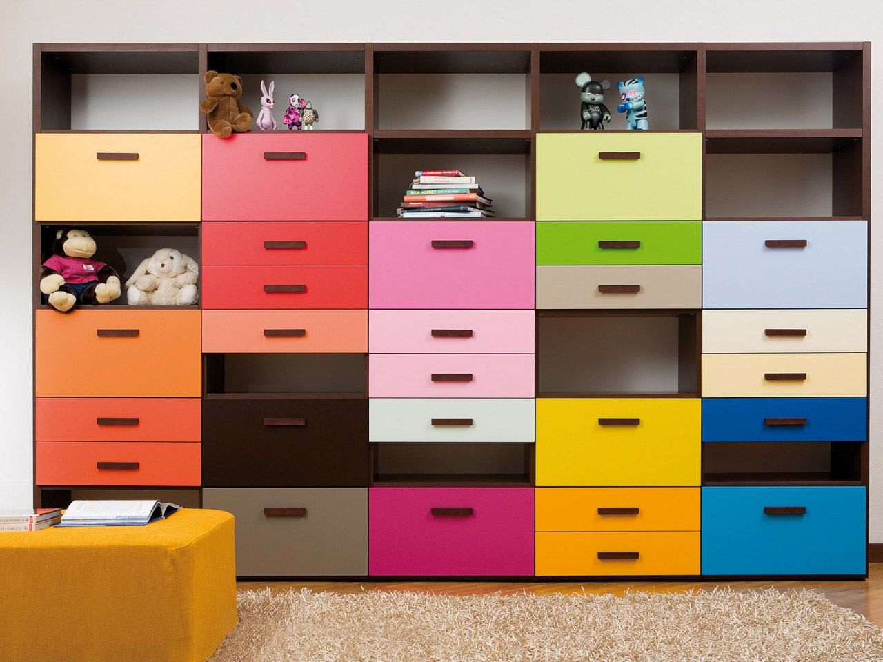 Dearkids armario y estanter a multicolor librer as - Armario estanteria ...