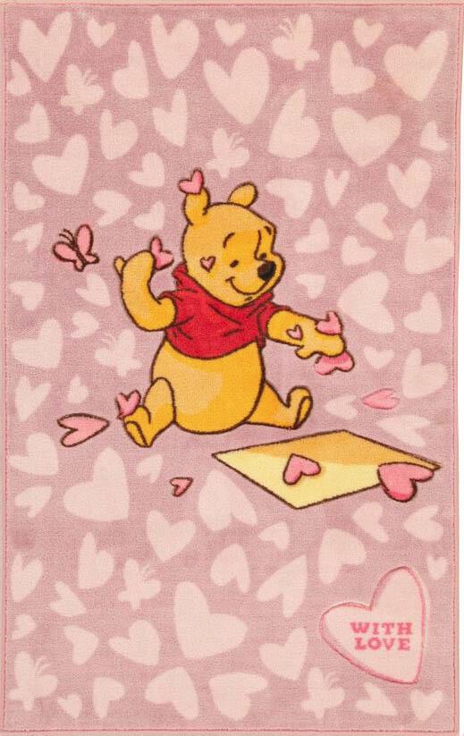 Disney comfort line pink hearts alfombras para ni os - Alfombras infantiles disney ...