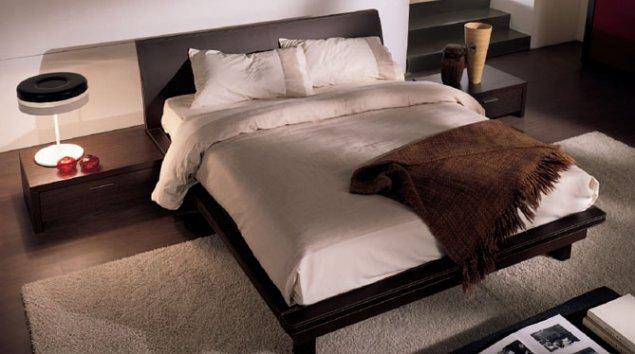 Cama Bahia cuero con armazón de la cama Plano cuero - Camas dobles