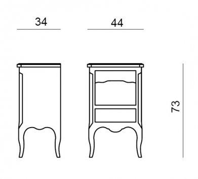 Tonin casa table de chevet virgo 1500 t1500 commodes - Construire une table de chevet ...