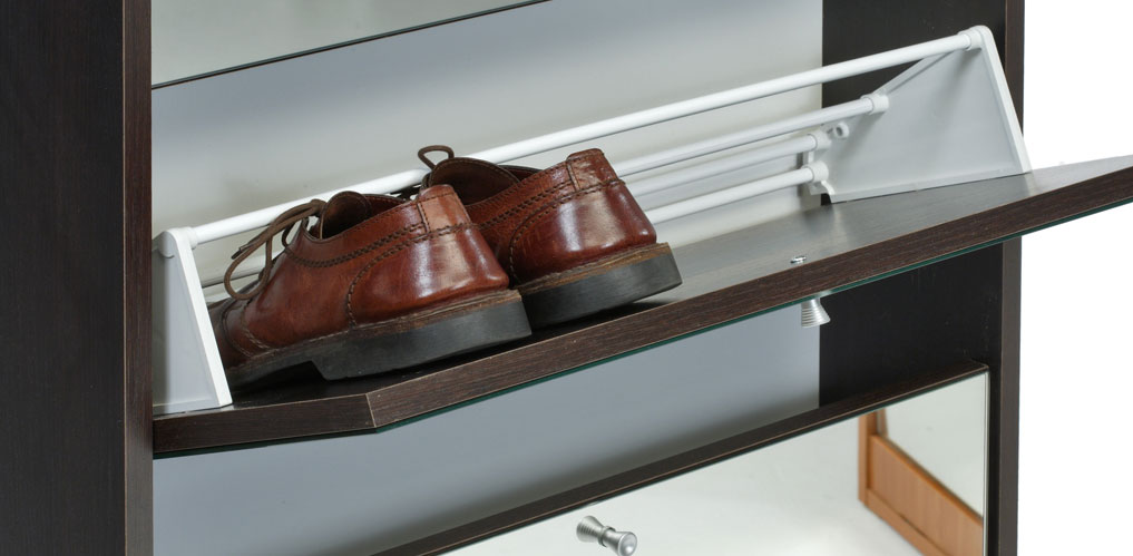 Asso porte chaussures premium miroir 151 armoires for Porte chaussures