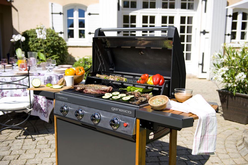 campingaz genesco 4 woody l 3000001563 barbecue gaz. Black Bedroom Furniture Sets. Home Design Ideas