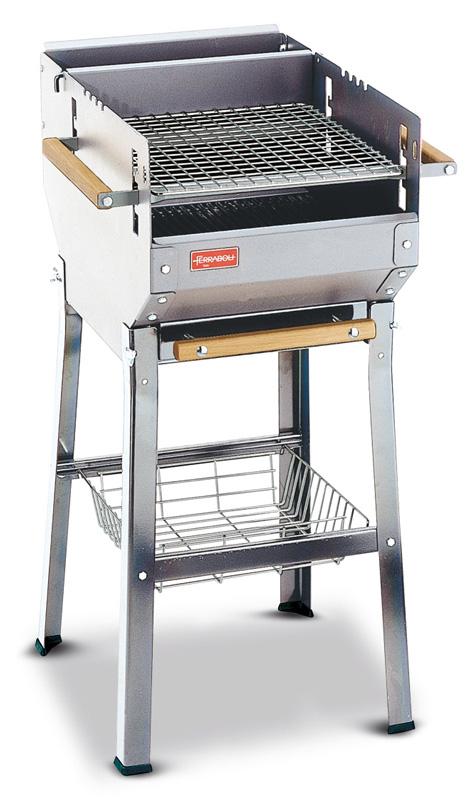 Ferraboli italy inox 229 barbecues bois ou charbon - Grille pour barbecue sur mesure en acier inox ...