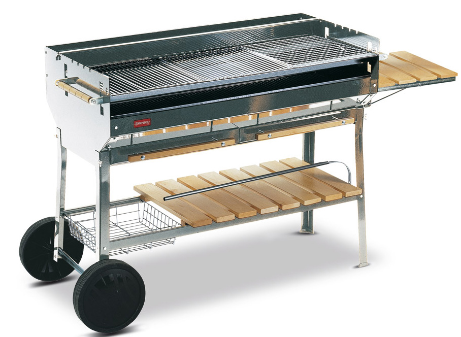 Ferraboli planet inox 228 barbecues bois ou charbon for Meuble 110x40