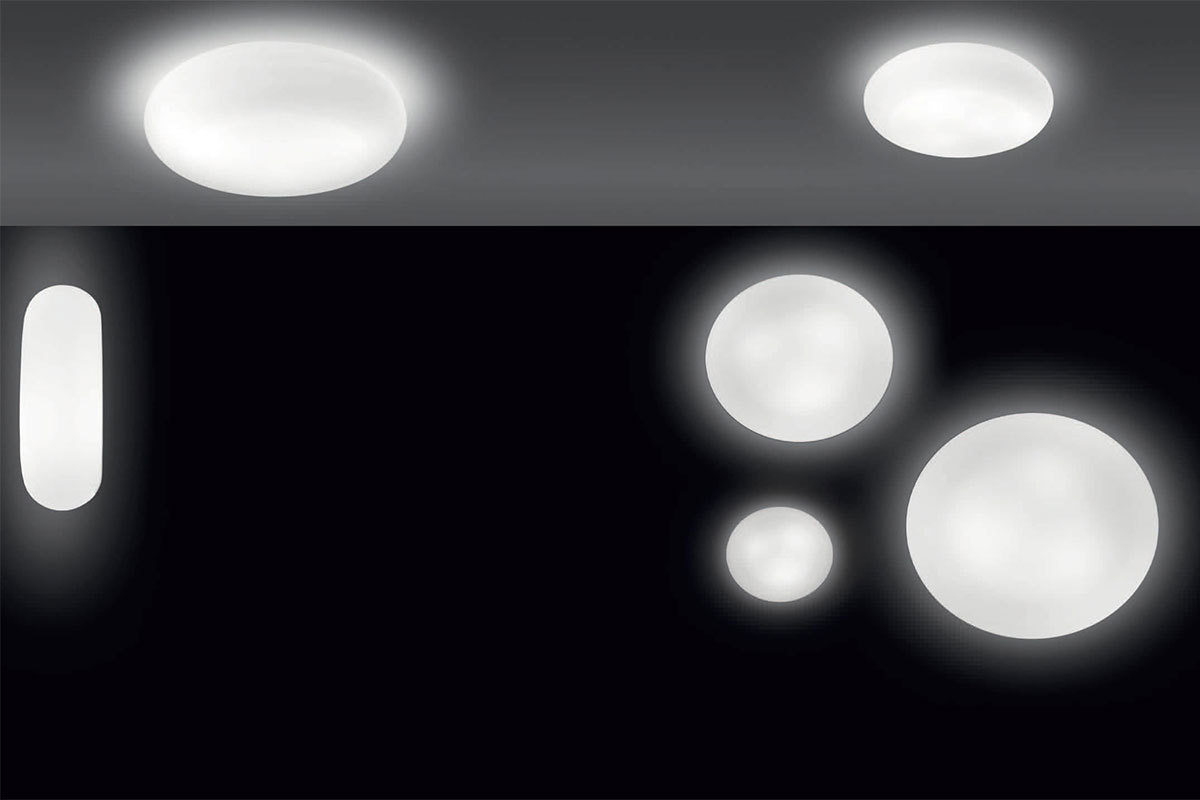 Artemide kao design wall or ceiling lamp in white finish