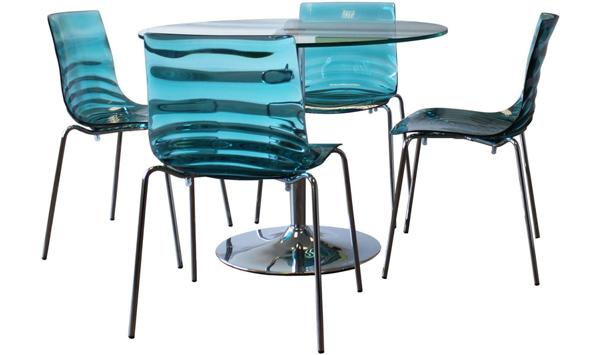 Connubia calligaris lot de 4 chaises l 39 eau cb 1273 lot 4 for Sedie calligaris eau