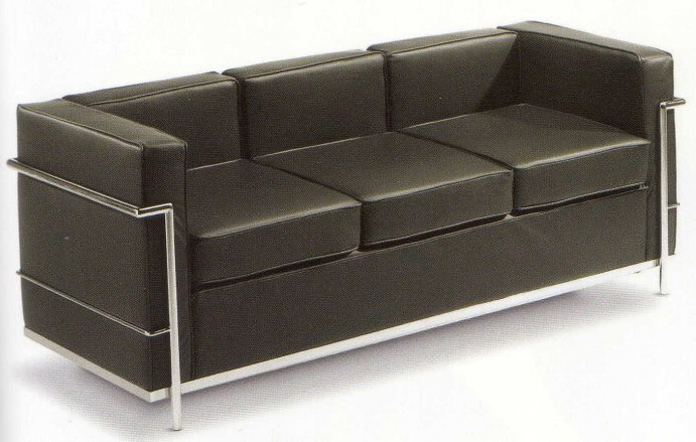 le corbusier lc2 canap 3 places canap s. Black Bedroom Furniture Sets. Home Design Ideas