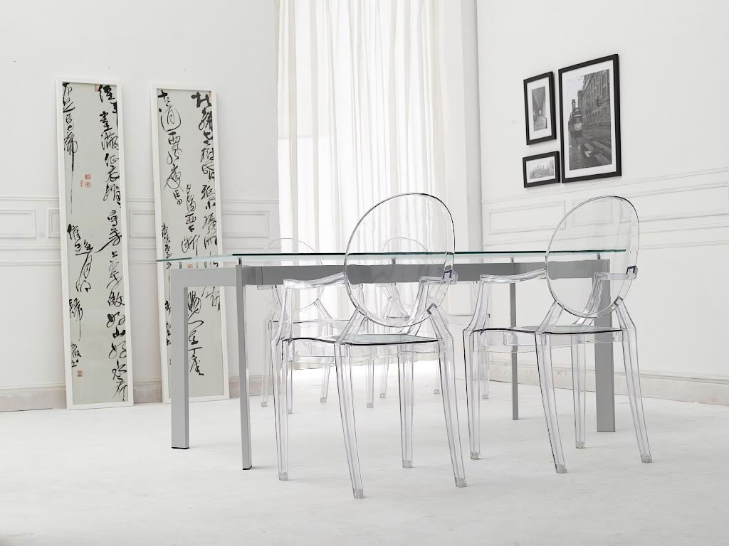 kartell lot de 4 chaises louis ghost lot 4 chaises. Black Bedroom Furniture Sets. Home Design Ideas