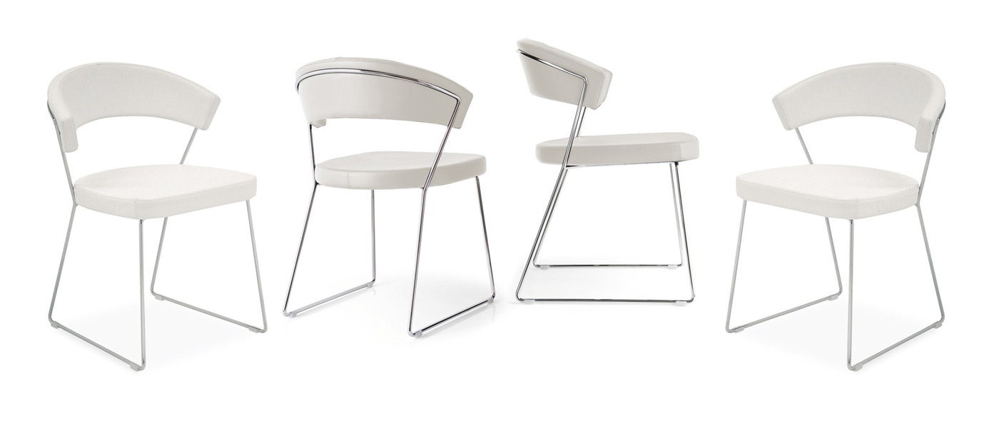 Connubia Calligaris Lot De 4 Chaises New York CB 1022 LH