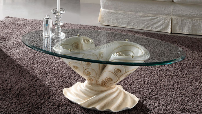 Target point table basse barocco tables basses - Table basse peinte ...