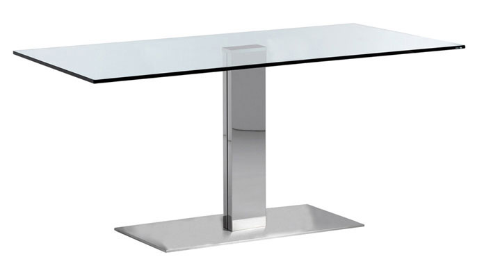 table en verre 140 x 80. Black Bedroom Furniture Sets. Home Design Ideas