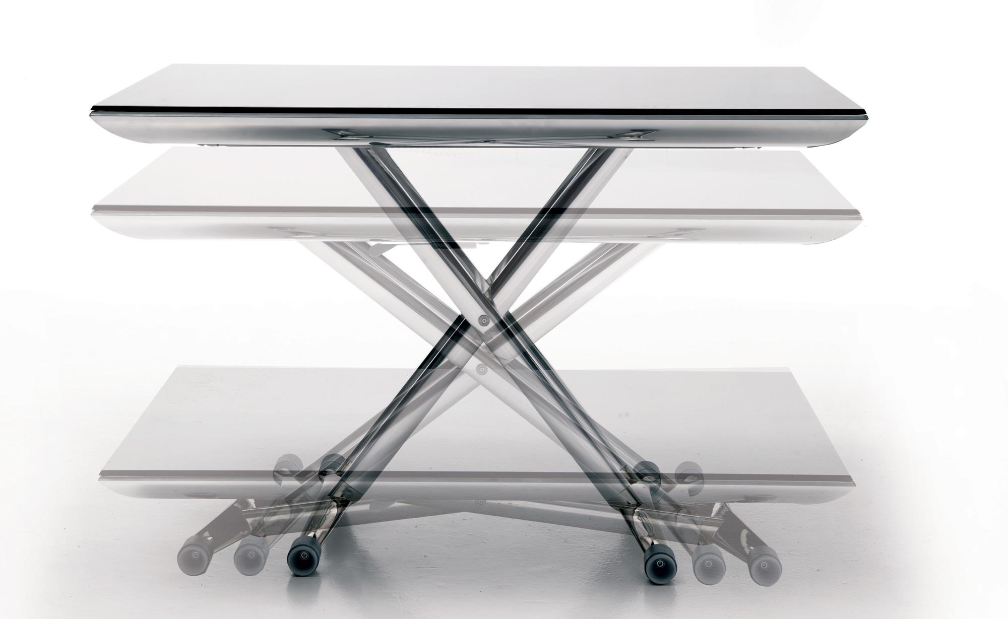 Ozzio design t100 magic t100 magic tables basses convertibles - Table basse montante ...