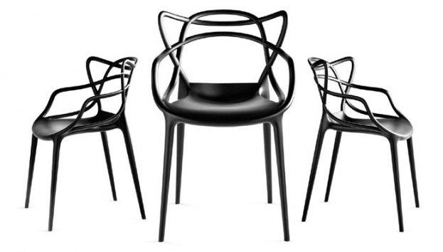 kartell lot de 4 chaises masters lot 4 chaises. Black Bedroom Furniture Sets. Home Design Ideas
