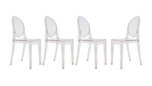 Kartell set di 4 sedie Victoria Ghost