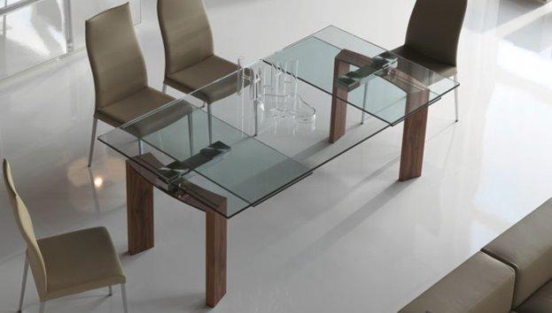 Cattelan italia tavolo allungabile daytona 140x80 tavoli for Tavoli di cristallo allungabili