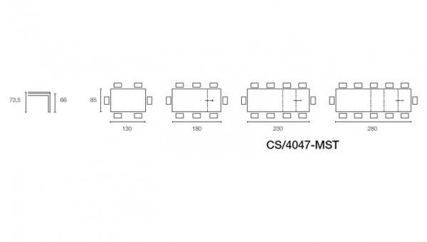 Connubia calligaris convoy cb 4047 mst 8b tavoli for Tavolo convoy calligaris
