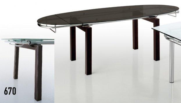 Eurosedia ellisse 673 670 tavoli for Tavolo 75x75 allungabile