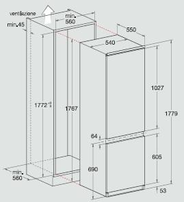 hotpoint ariston bcb 312 aai ha frigoriferi incasso. Black Bedroom Furniture Sets. Home Design Ideas